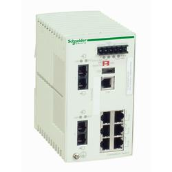 Schneider Electric TCSESM083F2CS0 Ethernet TCP/IP řízený spínač - ConneXium - 6TX/2FX - single mode