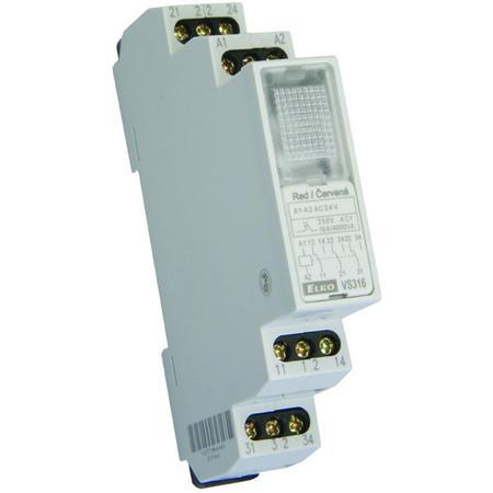 ELKO EP 4470 VS316 /230V bílá Pomocné relé 3x16A přepínací, AC 230V