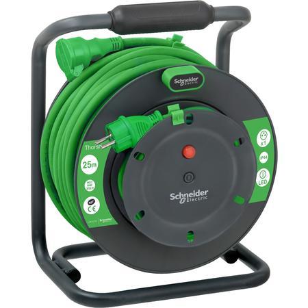 Schneider Electric IMT33153 Prodlužovací gumový kabel na bubnu 25m 3G2.5 IP44, spojka