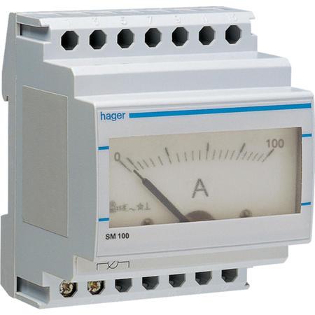 Hager SM100 Ampérmetr analogový nepřímé měření 0 - 100A