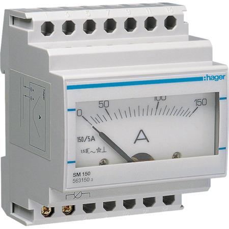 Hager SM150 Ampérmetr analogový nepřímé měření 0 - 150A
