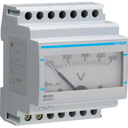 Hager SM500 Voltmetr analogový 0-500V