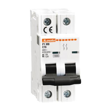LOVATO Electric P1MB2PD16 Jistič 2-pól, D, 10kA, 16A