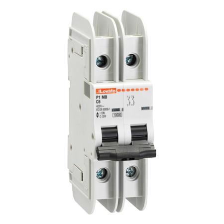 LOVATO Electric P1MBUH2PD16 Jistič 2P, D, 16A, mini