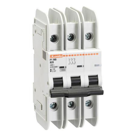 LOVATO Electric P1MBUH3PD16 Jistič 3P, D, 16A, mini
