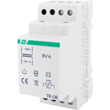 Eleman 1000712 TR 08 Transformátor na TS lištu 230V/8V, 1A