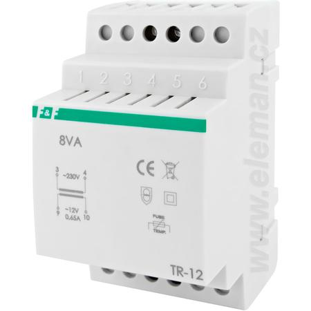 Eleman 1000780 TR-12 Transformátor na TS lištu 230V/12V, 0,66A, 8VA