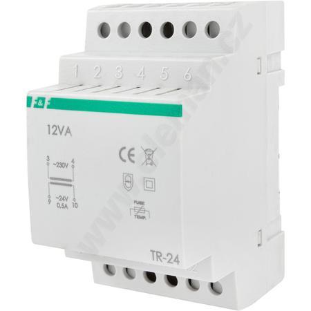 Eleman 1000781 TR-24 Transformátor na TS lištu 230V/24V, 0,5A, 12VA