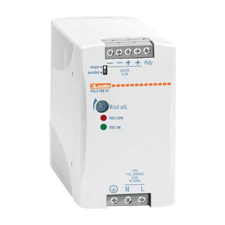 LOVATO Electric PSL210048 Spínaný napájecí zdroj, 100W/2,1A, výstup 48V DC napájení 2x400-500VAC