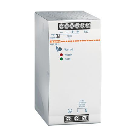 LOVATO Electric PSL112048 Spínaný napájecí zdroj, 120W/2,5A, výstup 48V DC, instal.provedení