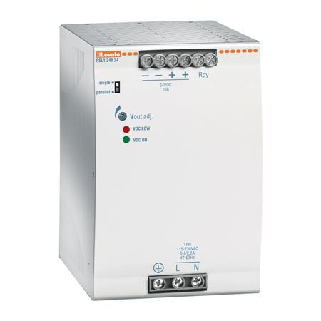 LOVATO Electric PSL130048 Spínaný napájecí zdroj, 300W/6,25A, výstup 48V DC, instal.provedení