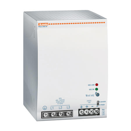 LOVATO Electric PSL324048 Spínaný napájecí zdroj, 240W/5A, výstup 48V DC, napájení 3x400-500VAC