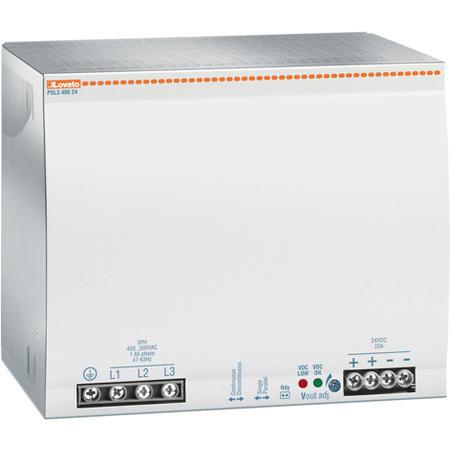 LOVATO Electric PSL348048 Spínaný napájecí zdroj, 480W/10A, výstup 48V DC, napájení 3x400-500VAC