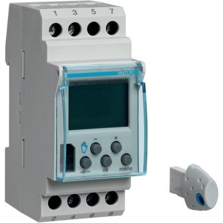Hager EG103E Digitální spínací hodiny týdenní, 1 kanálové, s komfort. funkcemi