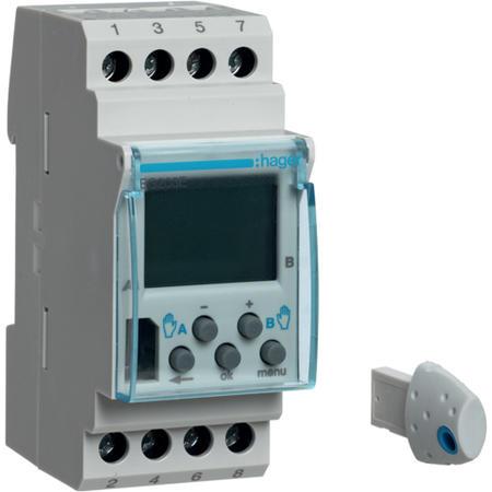 Hager EG203E Digitální spínací hodiny týdenní, 2 kanálové, s komfort. funkcemi
