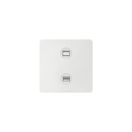 Simon 8000624-030 Klávesnice Sense bílá Ikony:Custom T2