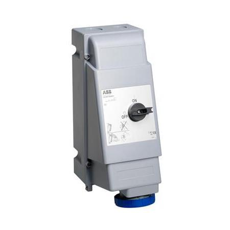 ABB 2CMA162739R1000 Zásuvka s blokov. vypínačem, do těžkých provozů, 3p., 125 A, IP67, 6 h, šedá-modrá