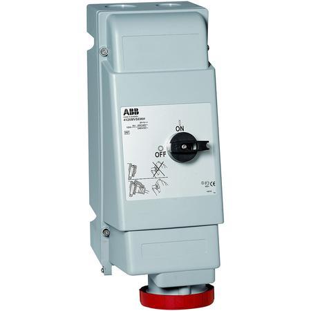 ABB 2CMA162792R1000 Zásuvka s blokov. vypínačem, do těžkých provozů, 5p., 125 A, IP67, 6 h, šedá-červená