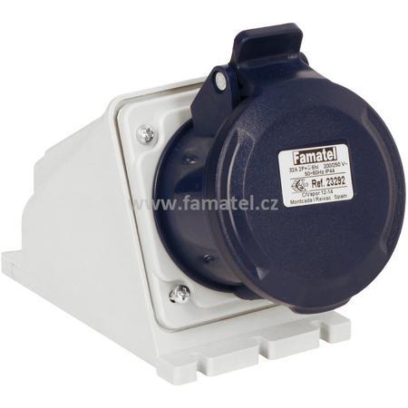 Famatel 23292 Zásuvka nástěnná IP44/230V/32A/3P 6h - SpeedPRO
