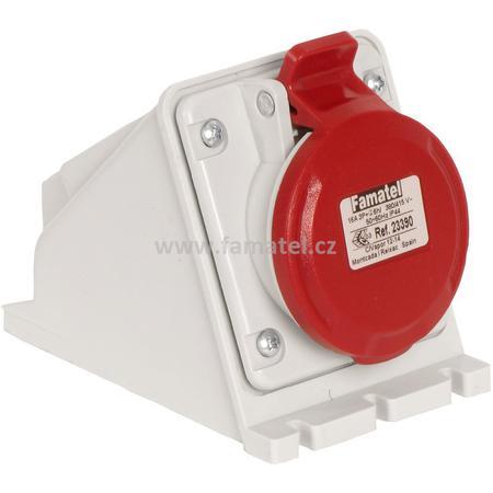 Famatel 23390 Zásuvka nástěnná IP44/400V/16A/4P 6h - SpeedPRO