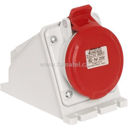 Famatel 23391 Zásuvka nástěnná IP44/400V/16A/5P 6h - SpeedPRO