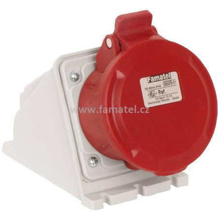 Famatel 23392 Zásuvka nástěnná IP44/400V/32A/4P 6h - SpeedPRO