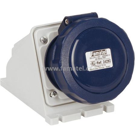 Famatel 24292 Zásuvka nástěnná IP67/230V/32A/3P 6h - SpeedPRO