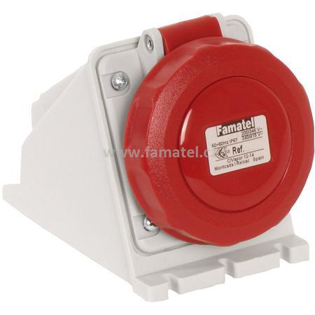 Famatel 24390 Zásuvka nástěnná IP67/400V/16A/4P 6h - SpeedPRO