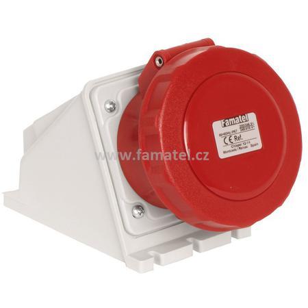 Famatel 24392 Zásuvka nástěnná IP67/400V/32A/4P 6h - SpeedPRO