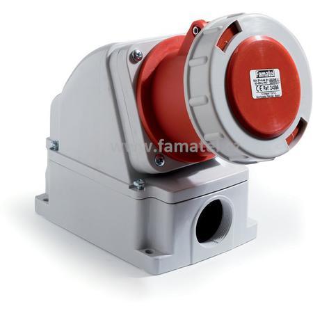 Famatel 24395 Zásuvka nástěnná IP67/400V/63A/5P 6h