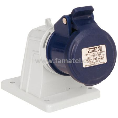 Famatel 23250 Zásuvka vestavná IP44/230V/16A/3P 6h, úhel 90° - SpeedPRO