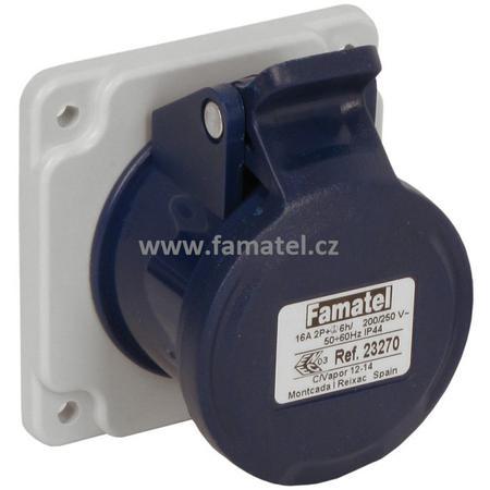 Famatel 23270 Zásuvka vestavná IP44/230V/16A/3P 6h, přímá - SpeedPRO