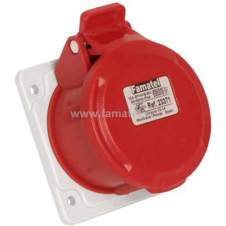 Famatel 23371 Zásuvka vestavná IP44/400V/16A/5P 6h, přímá - SpeedPRO