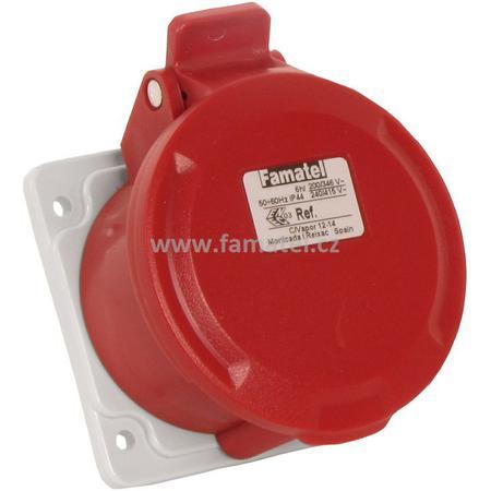 Famatel 23372 Zásuvka vestavná IP44/400V/32A/4P 6h, přímá - SpeedPRO
