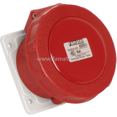 Famatel 24372 Zásuvka vestavná IP67/400V/32A/4P 6h, přímá - SpeedPRO
