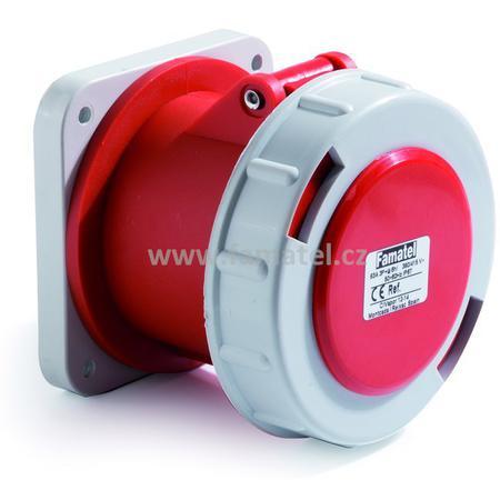 Famatel 24374 Zásuvka vestavná IP67/400V/63A/5P 6h, přímá