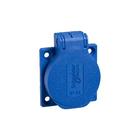 Schneider Electric PKS51B Zásuvka schuko 50 x 50 16A 2P+PE 250V IP54 modrá
