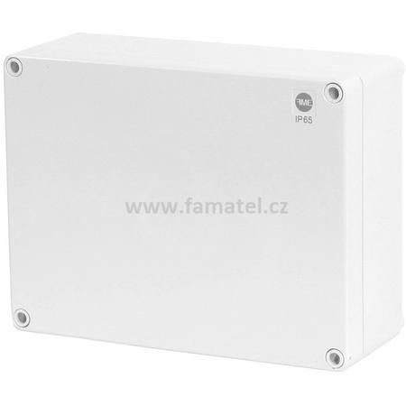 Famatel 68160 Krabice SolidBox IP65, 220x170x86mm, plné víko, hladké boky