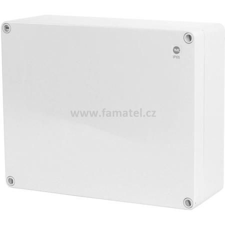 Famatel 68230 Krabice SolidBox IP65, 313x253x115mm, plné víko, hladké boky