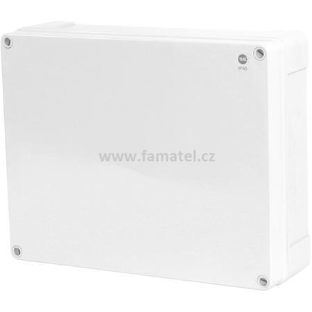 Famatel 68250 Krabice SolidBox IP65, 340x270x106mm, plné víko, hladké boky