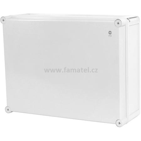 Famatel 68270 Krabice SolidBox IP65, 440x330x145mm, plné víko, hladké boky