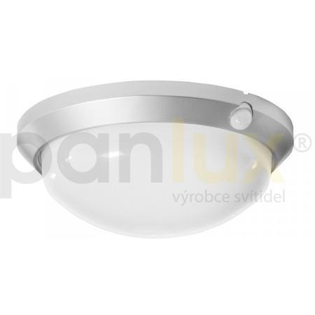 Panlux OS-60/CH OLGA S přisazené stropní a nástěnné kruhové svítidlo se senzorem 60W, stříbrná