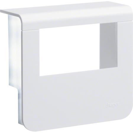 Hager SL200559329010 Kryt přístrojové krabice pro SL lištu výšky 55 mm, bílá