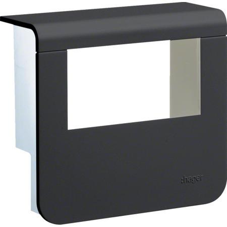 Hager SL200559329011 Kryt přístrojové krabice pro SL lištu výšky 55 mm, černá