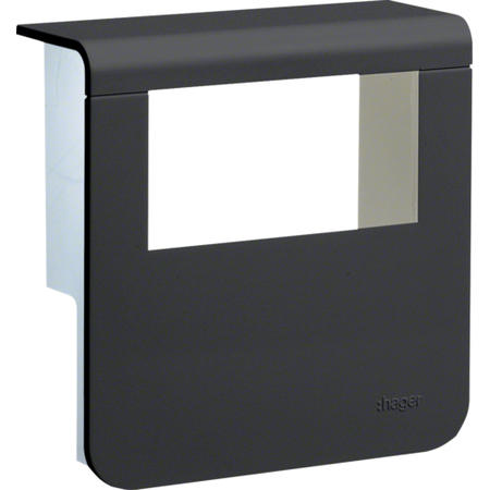 Hager SL200809329011 Kryt přístrojové krabice pro SL lištu výšky 80 mm, černá
