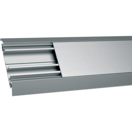 Hager AKA181250ELN Podlahová lišta hliníková 18x125 mm, přírodní elox