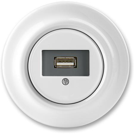 ABB 5014K-C00420 Zásuvka komunikační USB, bílá