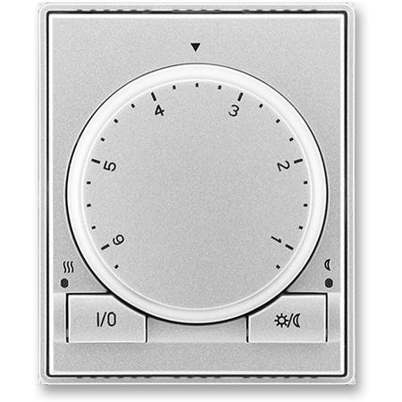 ABB 3292E-A10101 08 Termostat univerzální s otočným nastavením teploty (ovl. jednotka), titanová