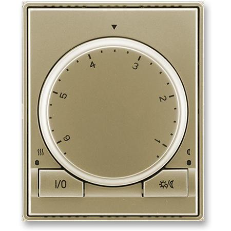 ABB 3292E-A10101 33 Termostat univerzální s otočným nastavením teploty (ovl. jednotka), šampaňská