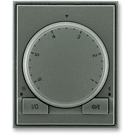ABB 3292E-A10101 34 Termostat univerzální s otočným nastavením teploty (ovl. jednotka), antracitová